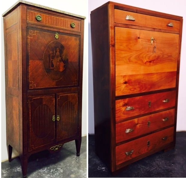 Secretaire auction resultat epoque style french achat vente