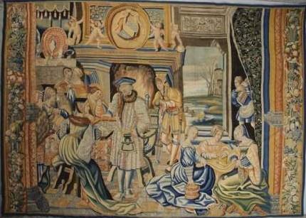 Tapisserie ancienne vente aux ench res publiques expertise estimation - Tapisserie murale ancienne ...